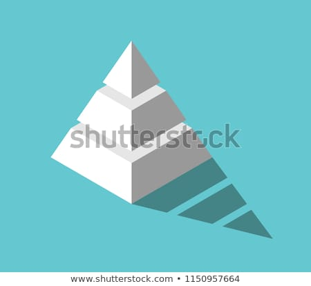 Isometric 3d Pyramid Triangle Shapes Vector Illustration Stock photo © jeff_hobrath