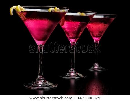 Három kozmopolita italok vonal bár fekete Stock fotó © dla4