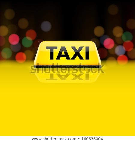 タクシー 屋根 アイコン サークル ステンシル デザイン ストックフォト © angelp
