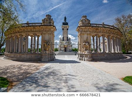Madryt króla parku Hiszpania konia sztuki Zdjęcia stock © borisb17
