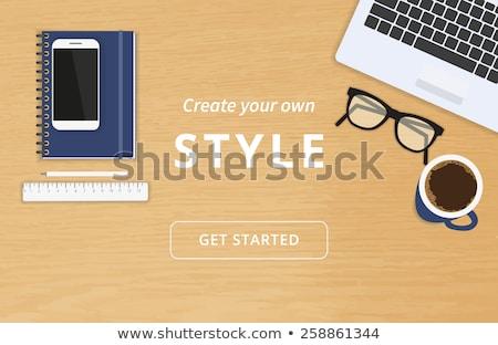 Tabelle top Telefon Web Grafiken Bildschirm Stock foto © wavebreak_media