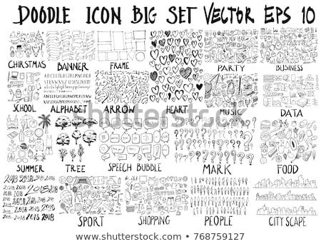 Cartoon hand-drawn doodles holidays illustration Stock photo © balabolka