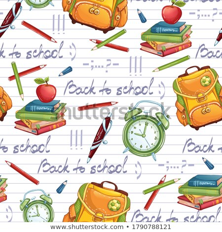 Back to School Time, Backpack and Notebook Sheet Stock photo © robuart
