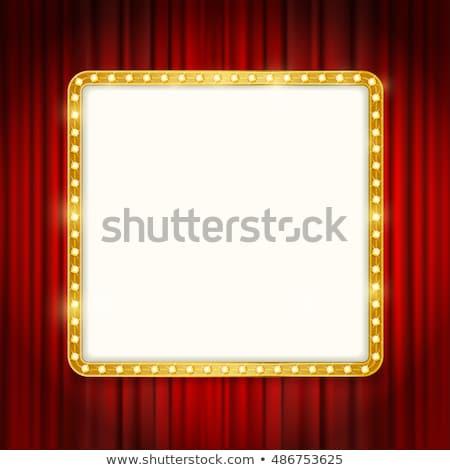квадратный кадр фары красный занавес Сток-фото © robuart