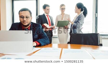 adó · stratégia · könyvelő · könyvelés · szimbólum · emberek - stock fotó © kzenon