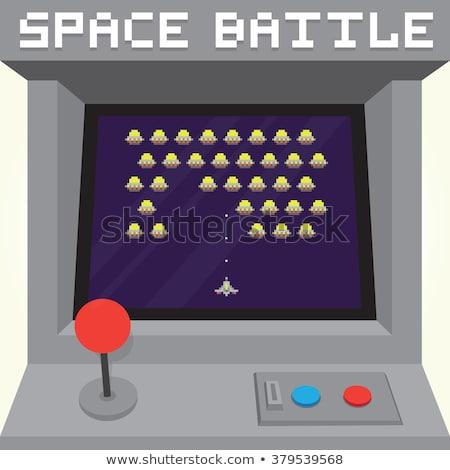 game over retro arcade game machine vector image stock photo © robuart