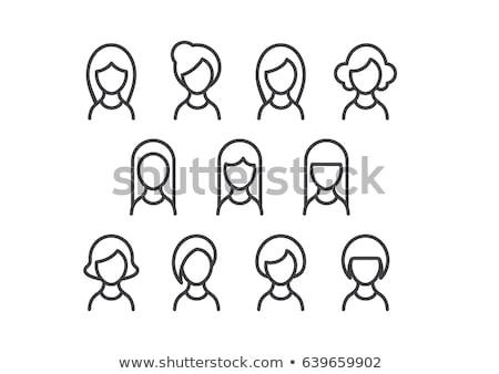 woman icon set stock photo © bspsupanut