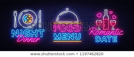 Dieting Neon Label Stock photo © Anna_leni