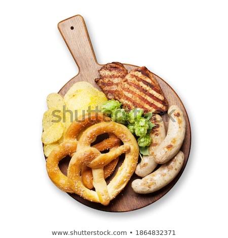 Oktoberfest bretzels saucisses puces viande Photo stock © karandaev