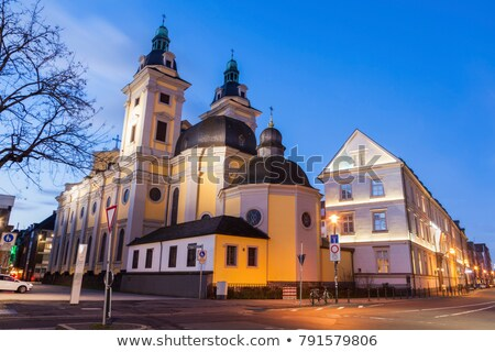 Церкви север синий путешествия ночь Skyline Сток-фото © benkrut
