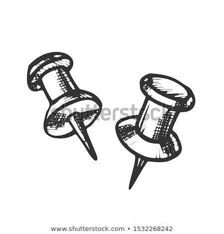 Thumbtack Push Pin Office Business Tool Ink Vector Stock photo © pikepicture