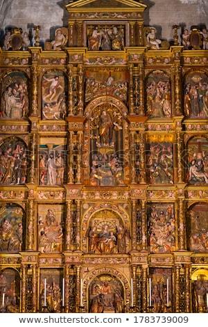 Templom mikulás LA Spanyolország belső építészet Stock fotó © borisb17