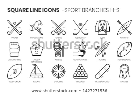 Rugby Ball Betting And Gambling Icon Vector Illustration Stock photo © pikepicture