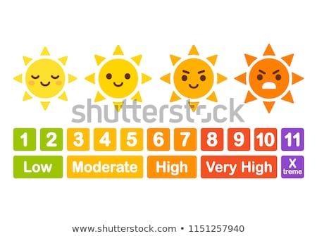 Conjunto uv saúde beleza verão Foto stock © cammep