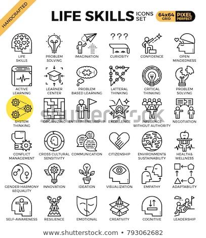 Creative entrepreneurship - line design style icons set Stock photo © Decorwithme