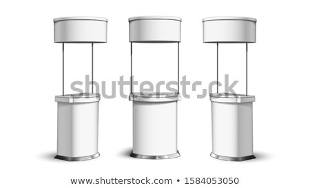 Fair Desk Collection In Different View Vector Stock photo © pikepicture