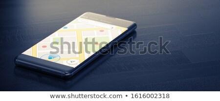 GEO TARGETING on a Mobile Phone. 3D Render. Stock photo © tashatuvango
