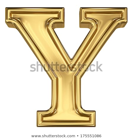 Brushed metal font Letter Y 3D Stock photo © djmilic