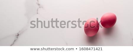 Yumurta mermer tablo minimalist gıda üst Stok fotoğraf © Anneleven