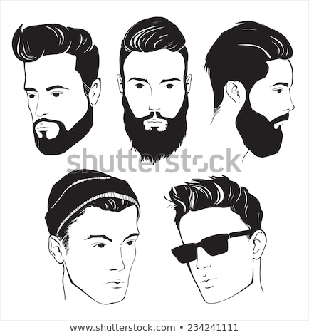 Man Profile With Beard Icon Outline Illustration Stock photo © pikepicture