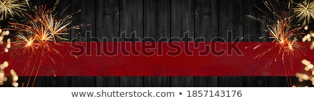 Empty Banner with Fireworks and Bright Lights Stock photo © robuart