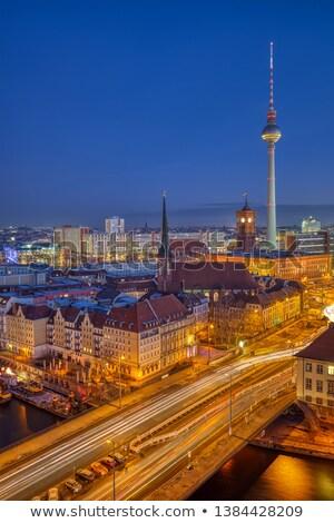 The Nicolaiviertel and Berlin Alexanderplatz Stock photo © elxeneize