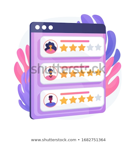 Profile rating vector concept metaphor Stock photo © RAStudio