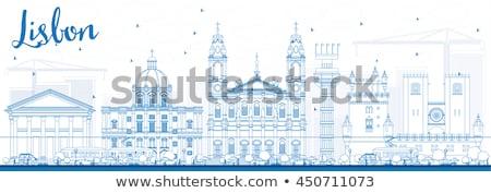 Lisboa azul edificios paisaje Foto stock © ShustrikS