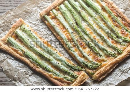 Espárragos placa alimentos restaurante hortalizas Foto stock © val_th