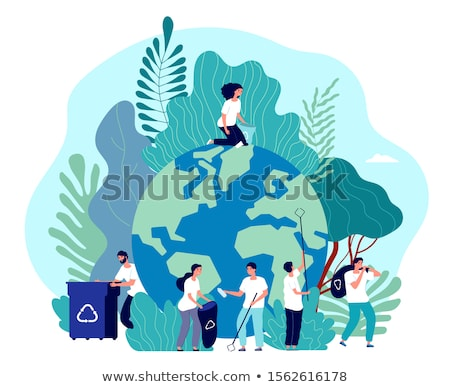 People Volunteering, Environmental Caring Vector Stock photo © robuart