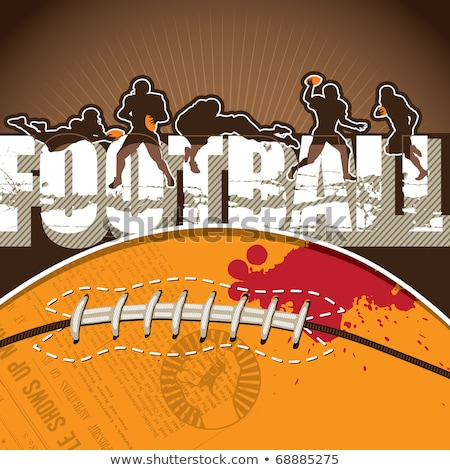 American Football Players, Gridiron Game Poster Stock photo © robuart