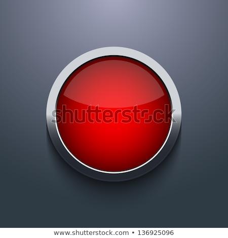 Rojo botón gris 3d blanco Foto stock © make