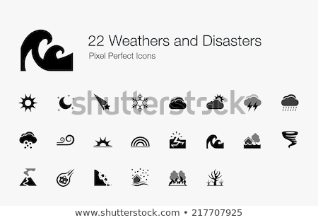 Earthquake Disaster Collection Icons Set Vector Stock photo © pikepicture
