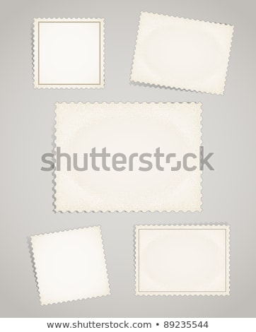 Set of realistic old blank post stamps with paper texture on white Stock photo © evgeny89