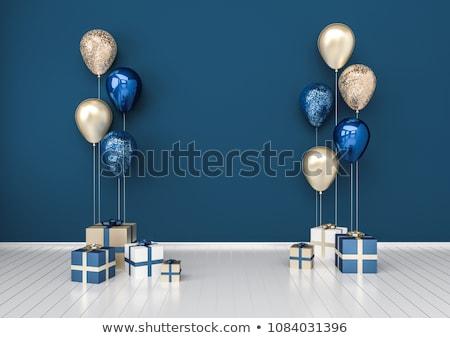 Gelukkige verjaardag donkere glanzend ballonnen kinderen gelukkig Stockfoto © SArts