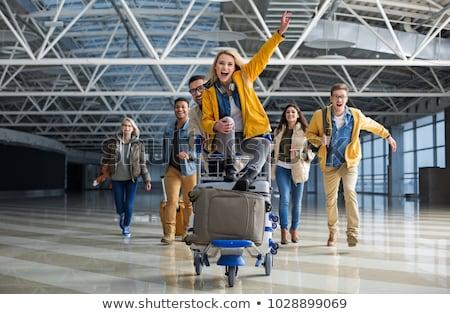 Menina bagagem vôo ar transporte Foto stock © jossdiim