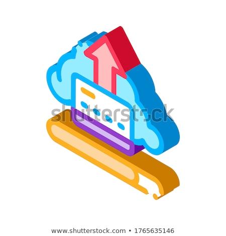 データ 雲 ストレージ アイソメトリック アイコン ベクトル ストックフォト © pikepicture