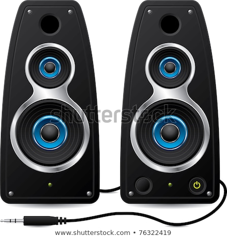 Pair of stereo computer speakers Stock photo © magraphics