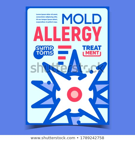 Mold Allergy Creative Advertising Banner Vector Stock photo © pikepicture