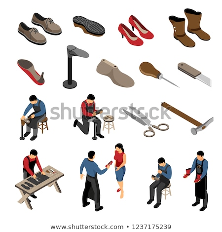 Repaired Shoe isometric icon vector illustration Stock photo © pikepicture