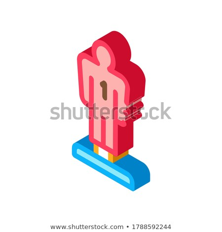 Jogador estatueta isométrica ícone vetor assinar Foto stock © pikepicture