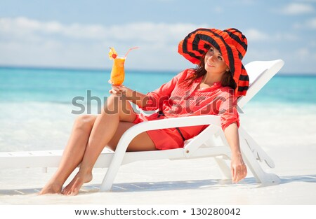 Girl in chaise lounge Stock photo © pressmaster