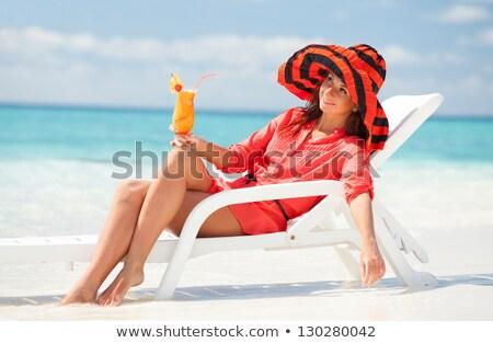 lány · társalgó · fiatal · lány · napozás · nyár · fiatal - stock fotó © pressmaster