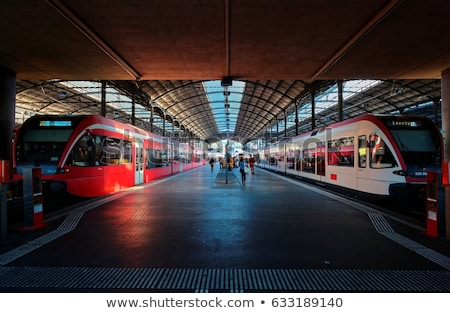Stazione ferroviaria costruzione viaggio moderno colline Chile Foto d'archivio © fxegs