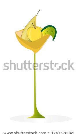 a stylized vase of the citrus fruits stock photo © vlaru