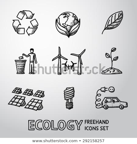 Freehand icons - technology Stock photo © abdulsatarid