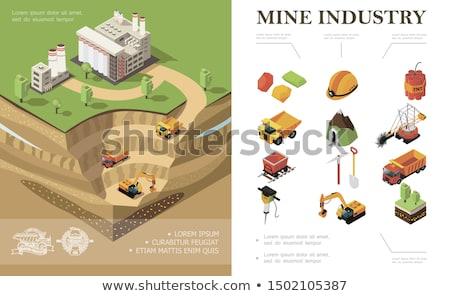 mijnbouw · industrie · objecten · iconen · vector - stockfoto © stoyanh