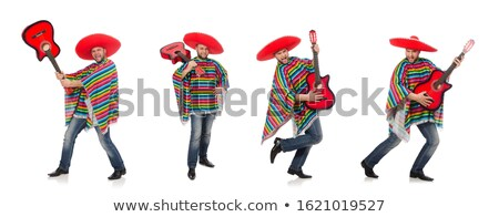 мексиканских играет гитаре пустыне сцена музыку Сток-фото © dayzeren