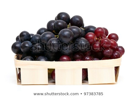 Three bunches of grapes in basket. Stock photo © lypnyk2