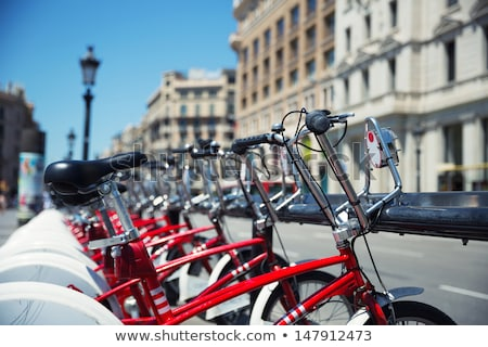 Fietsen huren Barcelona Spanje openbare fiets Stockfoto © fazon1